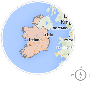 A map of Republic of Ireland